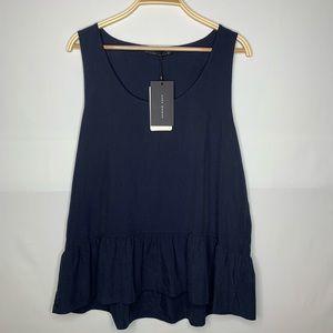 •women's• Beautiful blue Zara top L